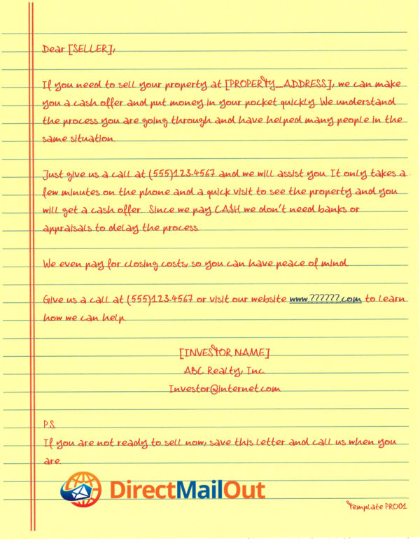 probate letters direct mail out official site yellow letters